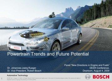 Powertrain Trends and Future Potential - EERE