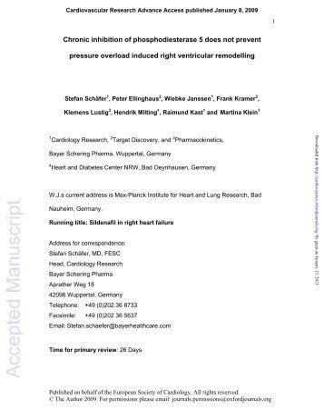 Accepted Manuscript - Cardiovascular Research