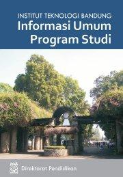 ITB Informasi Umum Program Studi_Terbit Desember 2009