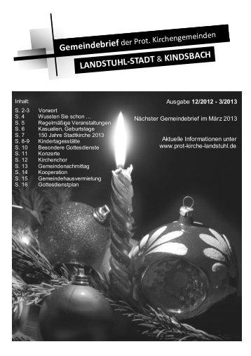 Gemeindebrief - Protestantisches Pfarramt Landstuhl