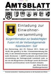 versammlung - Verbandsgemeinde Landstuhl