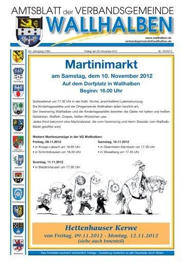 Martinimarkt - Verbandsgemeinde Wallhalben