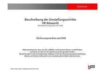 Beschreibung der Umstellungsschritte VR Networld