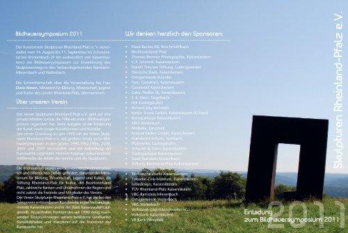 programm 2011 druck - Skulpturen Rheinland-Pfalz eV