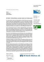 PM 19/2011: VR Bank Weimar Juniorteam startet in die ...