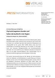 CityCards begeistern Kunden und halten die Kaufkraft in der Region