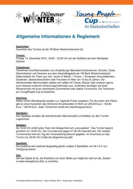 Weitere Infos - VR-Bank Westmünsterland eG