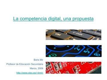 La competencia digital: una propuesta de Boris Mir