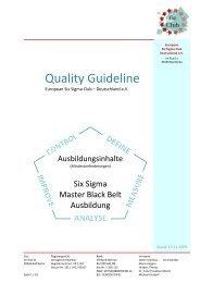 Quality Guideline - European Six Sigma Club Deutschland eV