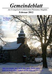 Gemeindeveranstaltungen - Kirchspiel Magdala/Bucha