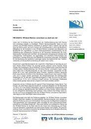 PM 20/2012: VR Bank Weimar Juniorteam so stark wie nie!