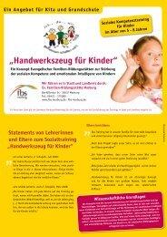Handwerkszeug für Kinder - Ev. Familien-Bildungsstätte Marburg