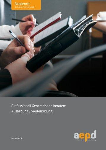 Professionell Generationen beraten: Ausbildung ... - GeNe GmbH