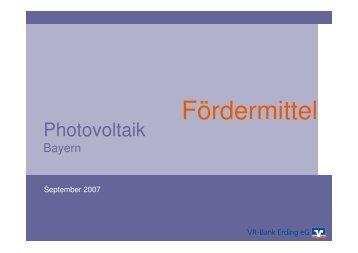 """""""Photovoltaik"""" (pdf, 1.052 KB) - VR-Bank Erding eG"""