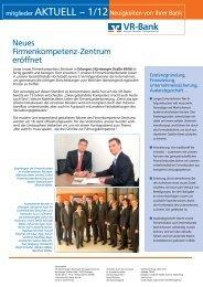 Mitgliederzeitung 2012/1 - VR-Bank Erlangen-Höchstadt ...