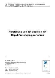 Herstellung von 3D-Modellen mit Rapid-Prototyping-Verfahren