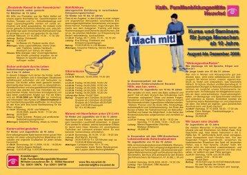 jugend A5 2-2009 - Katholische Familienbildungsstätte Neuwied