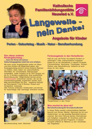 kinderprogramm 2-2009 Heft A5 - Katholische ...