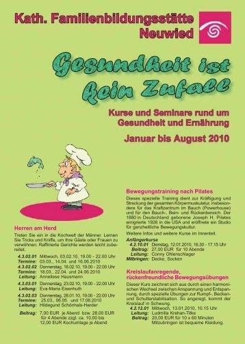 programmheft gesundheit 1-2010 - Katholische  ...