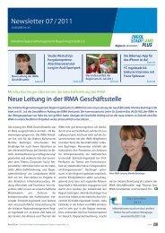 Newsletter Juli 2011 - Initiative Regionalmanagement Region ...
