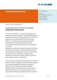 presse-information - Charity Label