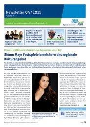 Newsletter April 2011 - Initiative Regionalmanagement Region ...
