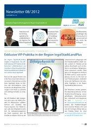 Newsletter August 2012 - Initiative Regionalmanagement Region ...