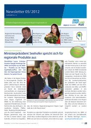 Newsletter Mai 2012 - Initiative Regionalmanagement Region ...