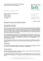 Stellungnahme zum Entwurf der Vergleichswertrichtlinie