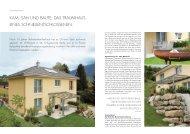 kam, sah und baute: das traumhaus eines ... - Swisshaus AG