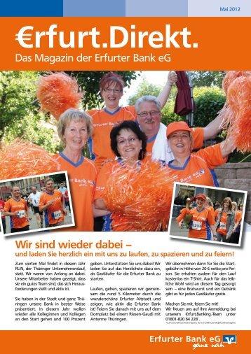 Mitgliederzeitung Mai 2012 - Erfurter Bank eG