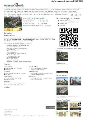 1 Bedroom Apartment / Flat for Sale in Vrindavan, Mathura (Shri ...