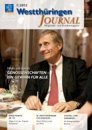 Ausgabe 01/2012 - VR Bank Westthüringen eG
