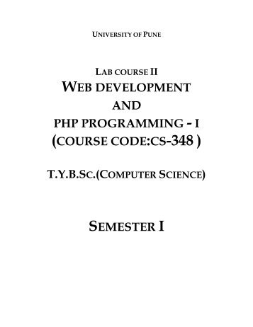 WEB DEVELOPMENT AND PHP PROGRAMMING ... - KTHM College