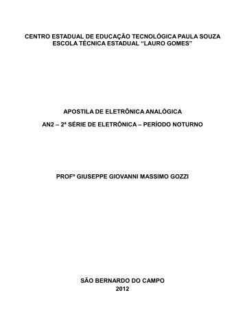 ELETRÔNICA ANALÓGICA - Lauro Gomes