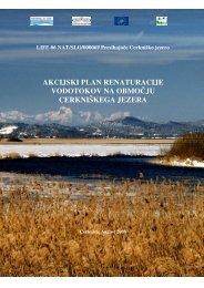 Akcijski plan renaturacije vodotokov na območju Cerkniškega jezera