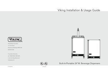 Installation instructions viking range corporation publicscrutiny Image collections