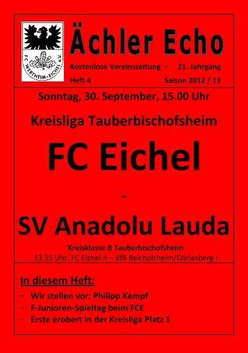 SV Anadolu Lauda - FC Eichel