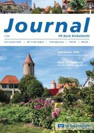 Ausgabe 03/09 Oktober 2009 - VR Bank Dinkelsbühl eG