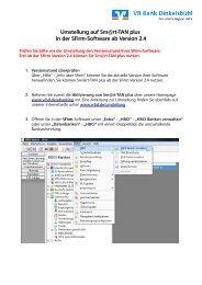 Umstellung auf Sm@rt-TAN plus in der SFirm-Software ab Version 2.4