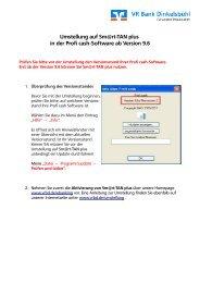 Umstellung auf Sm@rt-TAN plus in der Profi cash-Software ab ...