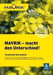 MAVRIK – macht den Unterschied! - Feinchemie Schwebda GmbH