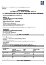 Sicherheitsdatenblatt gemäß Verordnung (EG) - Feinchemie ...