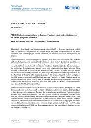 Neue effiziente Kohle und Gaskraftwerke unverzichtbar - FDBR