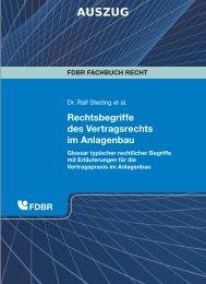 Rechtsbegriffe des Vertragsrechts im Anlagenbau - FDBR
