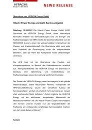 Hitachi Power Europe verstärkt Service-Angebot - FDBR