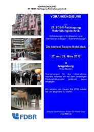 27. FDBR-Fachtagung Rohrleitungstechnik