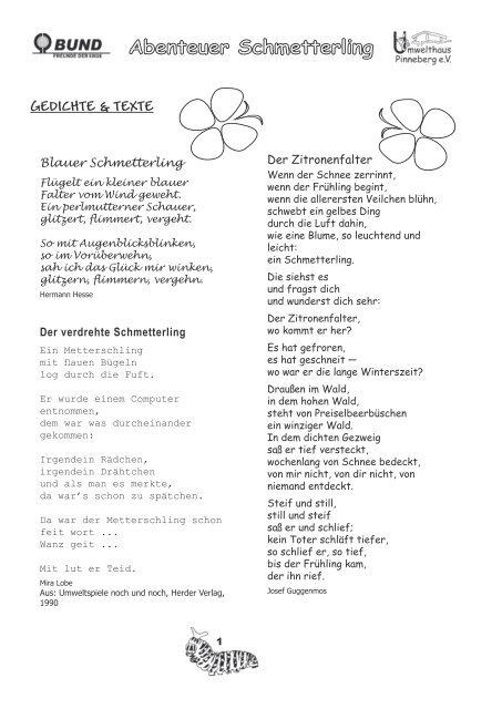 Gedichte Texte Umwelthaus Pinneberg Ev