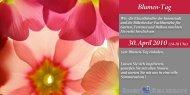 Flyer Thementag Blumen - Billerbeck