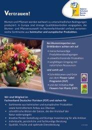 Vertrauen! - Fachverband Deutscher Floristen eV Bundesverband